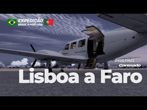 Lisboa a Faro pela Vatsim   Prepar3D   Piper Navajo da Carenado  