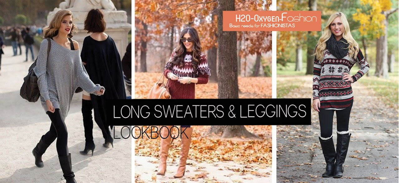 Long Sweaters & Leggings | How to Style Lookbook - YouTube