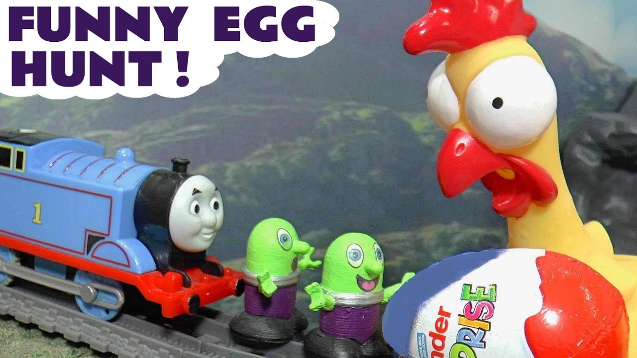 Thomas The Tank Engine Funny Kinder Surprise Egg Hunt with the Funlings TT4U