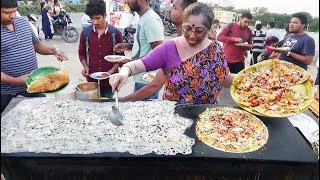 Hard Working Famous Aunty Selling Tiffins | Pizza Dosa / Panner Dosa / Rava Dosa is @ 35 rs Only