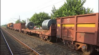 Indian railways full loaded Freight Train powered by  Diesel Locomotive