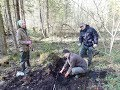 Russian diggers exhume WWII bodies in Leningrad region (English Langage)