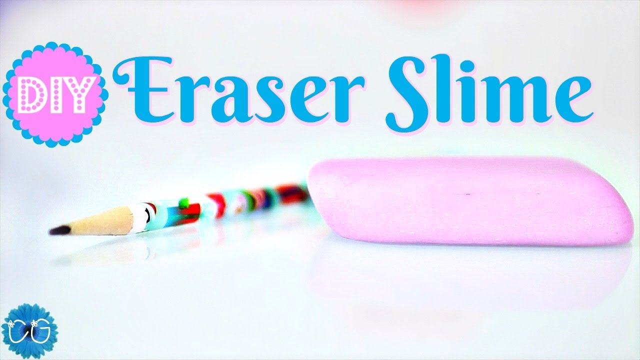How To Make Eraser Slime! Easy  No Borax Needed!