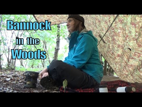 Bannock Bread Cake in the Woods