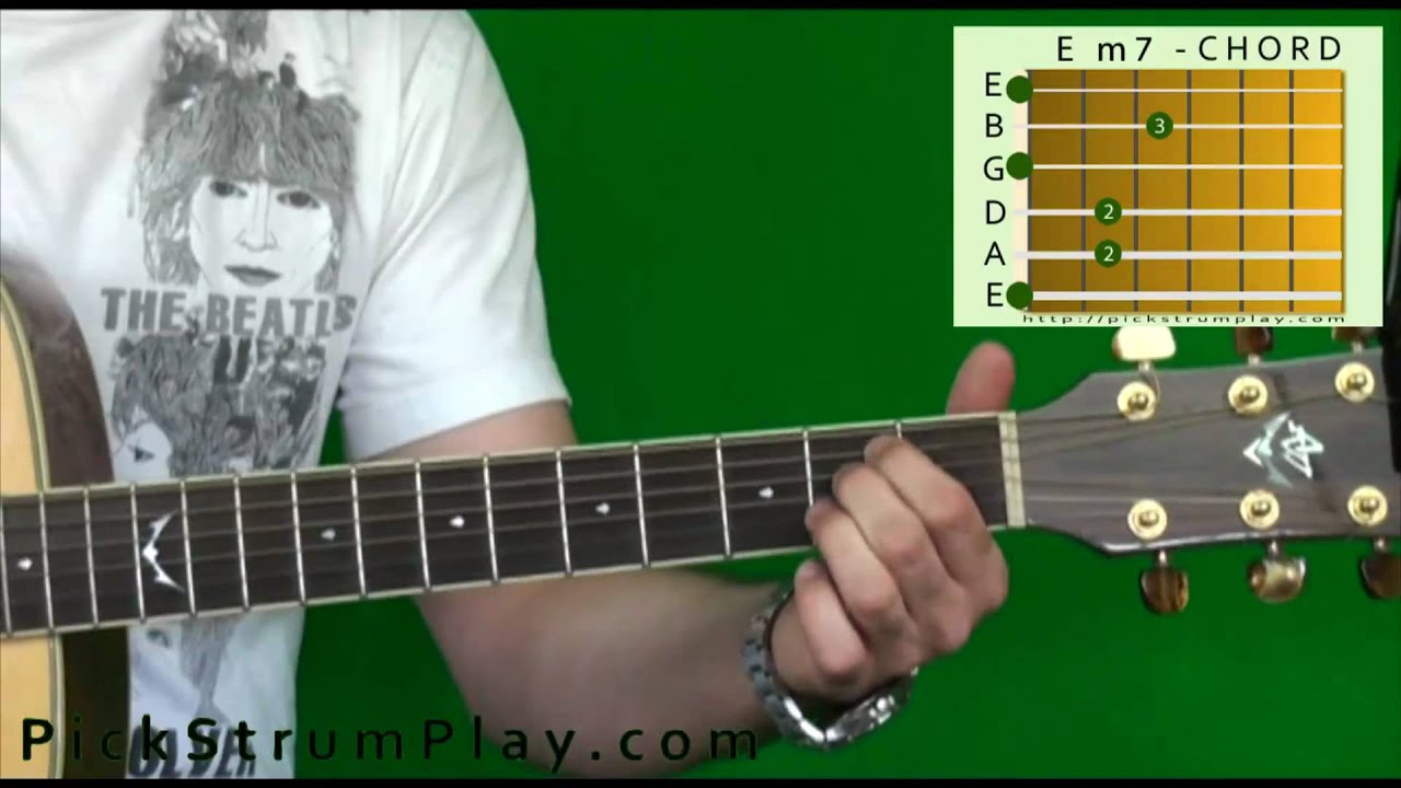 How To Play An E Minor 7 Chord On Guitar Em7 Youtube