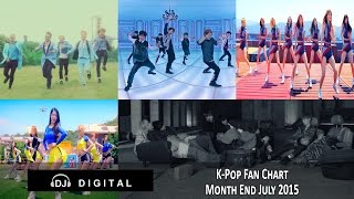 Top K-Pop Songs Chart (Fan Chart) - Month End July 2015