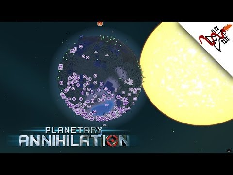 Planetary Annihilation - 23 Players | 4 Teams | Combat Gameplay w/ Commentary [1080p/HD]