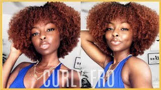 BANGS ANYONE?| How to get the PERFECT Curly Fro.
