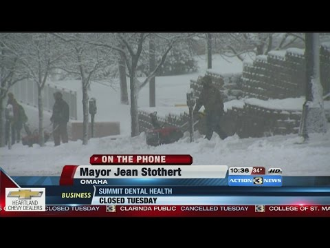 Omaha Mayor Jean Stothert gives update on city's snowstorm response