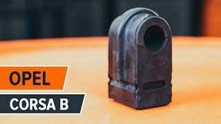 Como trocar casquilho da barra estabilizadora dianteira OPEL CORSA B TUTORIAL | AUTODOC