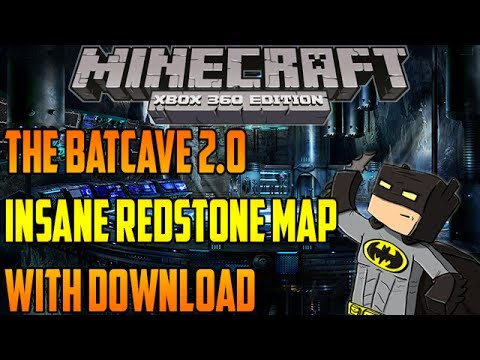 Minecraft Xbox 360: The Bat-Cave 2.0 Map Download - EPIC! Batman ...