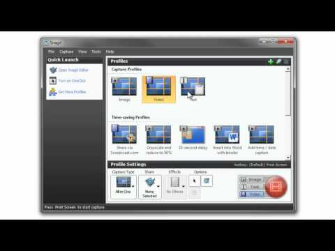How to use image capture with Snagit 11