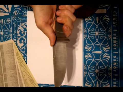Finished Acid Wash & Edge Bevel on Homemade Blade
