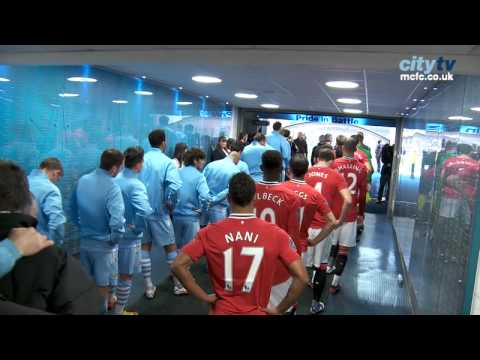 TUNNEL CAM: FAC3 City v United - Behind the scenes at the Etihad Stadium HD