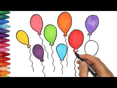 Balonlar Nasil Cizilir Cizelim Boyayalim Youtube