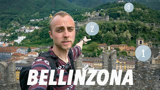Three Castles of Bellinzona; Drinking Wine With a VIEW!