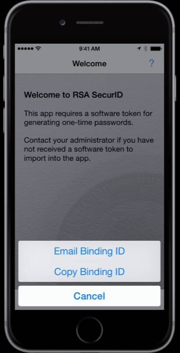 RSA Request Softtoken
