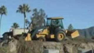 Video still for John Deere Hitachi Landscape Loader 210LJ Action Loader