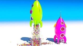 Ракети.Вчимо кольори англійською. Розвиваючі мультики і навчальні відео огляди дитячих іграшок