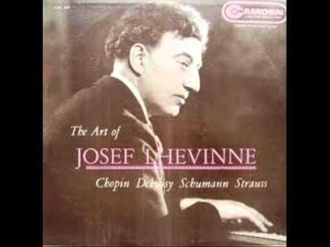 """Josef Lhevinne plays Strauss-Schulz Evler """"Blue Danube"""""""