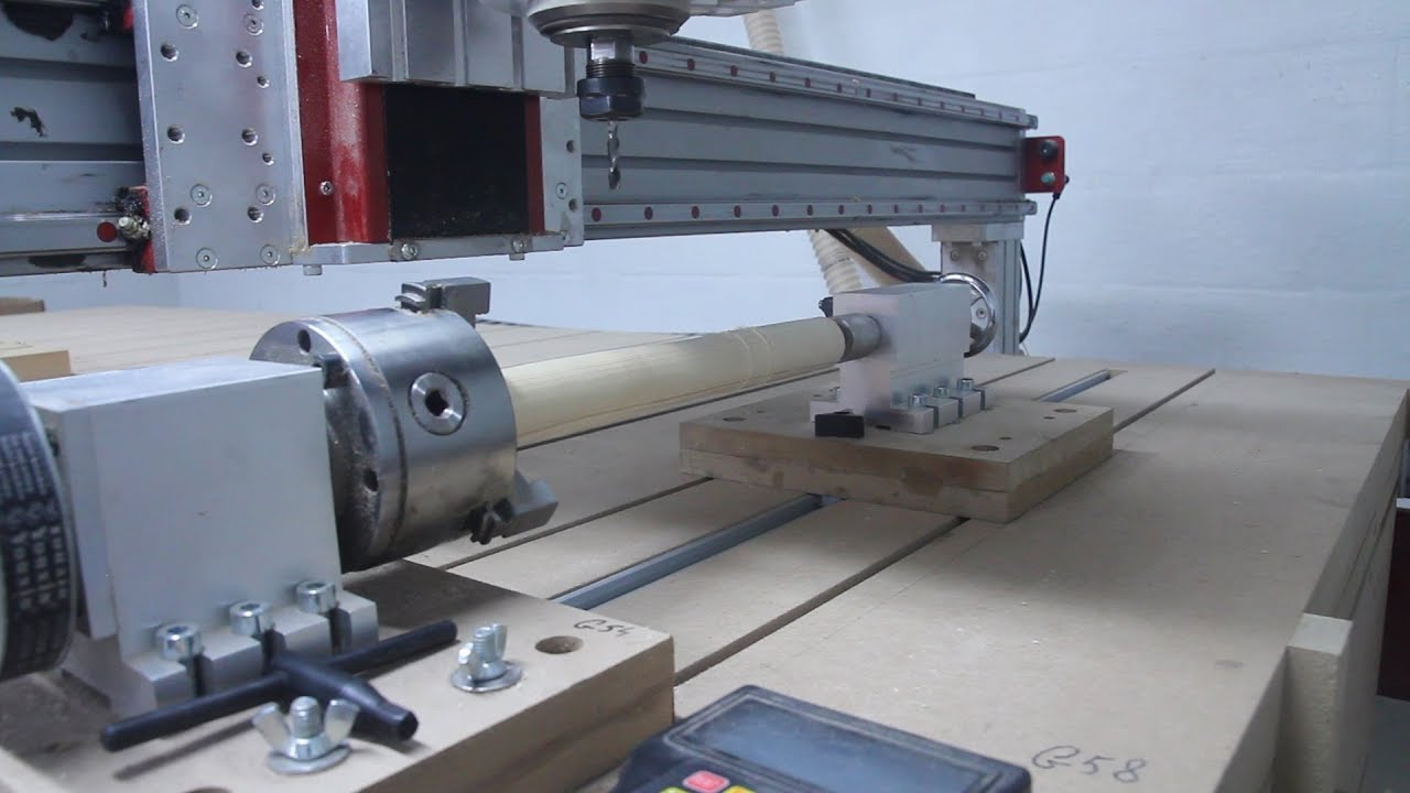Installation of a rotary axis on a CNC router