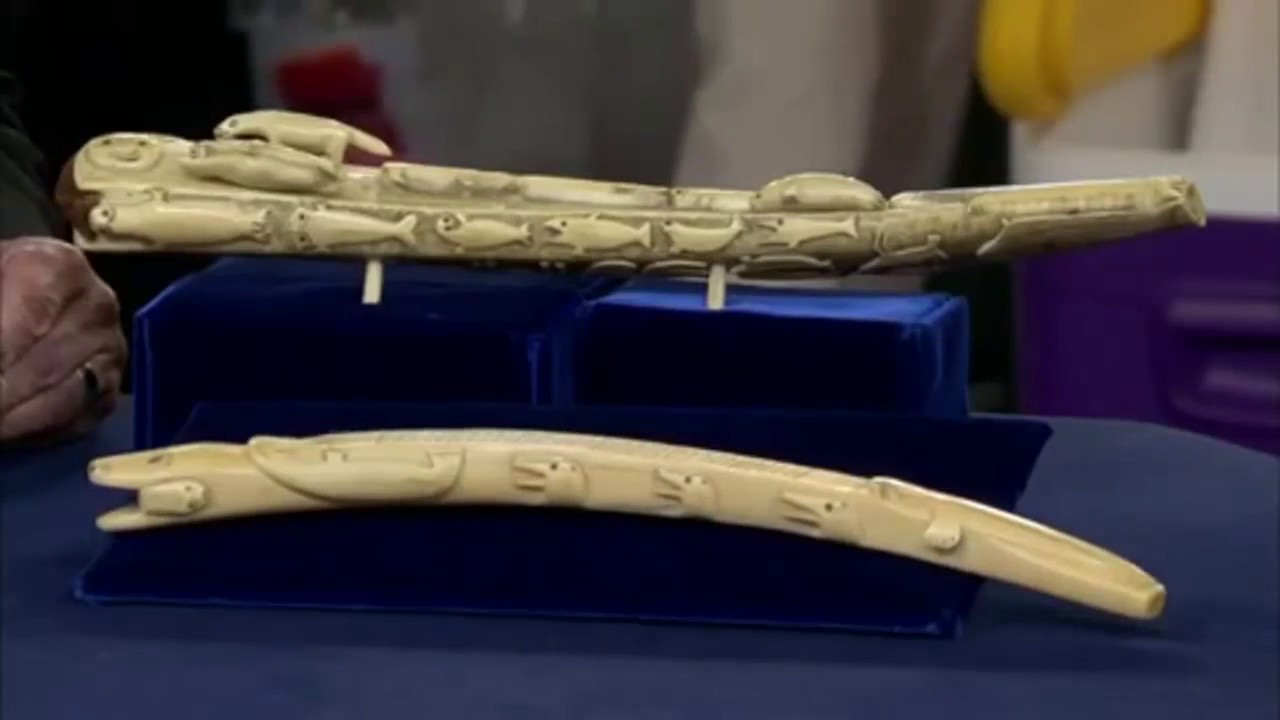 Inuit Walrus Bone Carved Superbly Cribbage Boards Ca 1900 Antiques Roadshow Specials 1 Sometime I Youtube