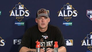 HOU@BOS Gm4: A.J. Hinch talks about clinching ALDS