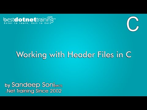 Working With Header Files In C Langauage