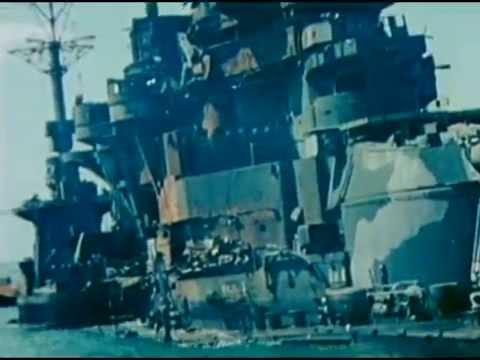 Beached, Sunken & Damaged Japanese Ships in Kure - 1946