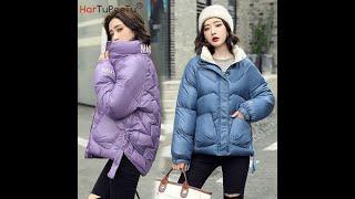 Женская зимняя куртка с хлопковой подкладкой в корейском стиле пальто карманами и разрезом сзади