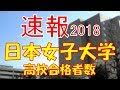 【速報】日本女子大学 2018年(平成30年) 合格者数高校別ランキング