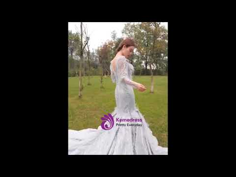 kemedress-silver-gray-mermaid-sequins-see-through-v-neck-long-sleeve-prom-dress