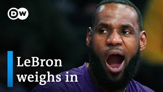 What's behind LeBron James' tweets on the NBA-China kerfuffle? | DW News
