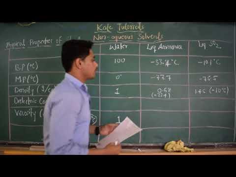 04 Physical Properties Of Water, Liq.Ammonia & Liq.Sulphur Dioxide