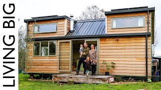 Dream DIY Tiny House With Amazing Kid-Safe Loft