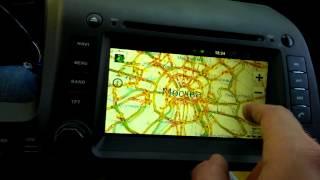 2DIN ГУ Android 2.3.4 для Honda Civic 4D (до 2011) видео 2 из 2