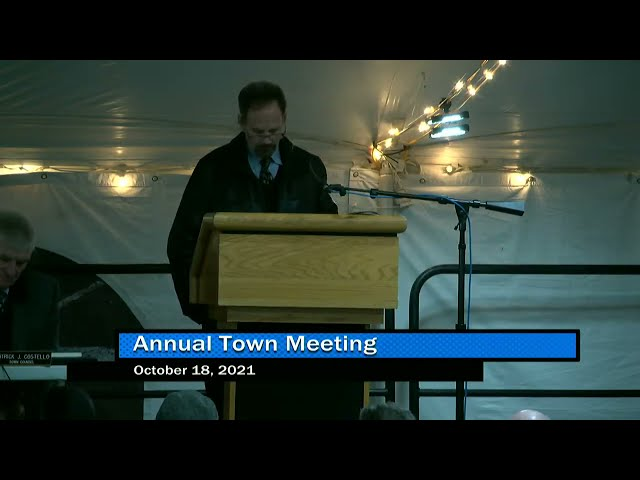 The Annual Town Meeting 10-18-21