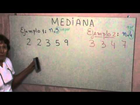 ¿Qué es la Mediana?.wmv