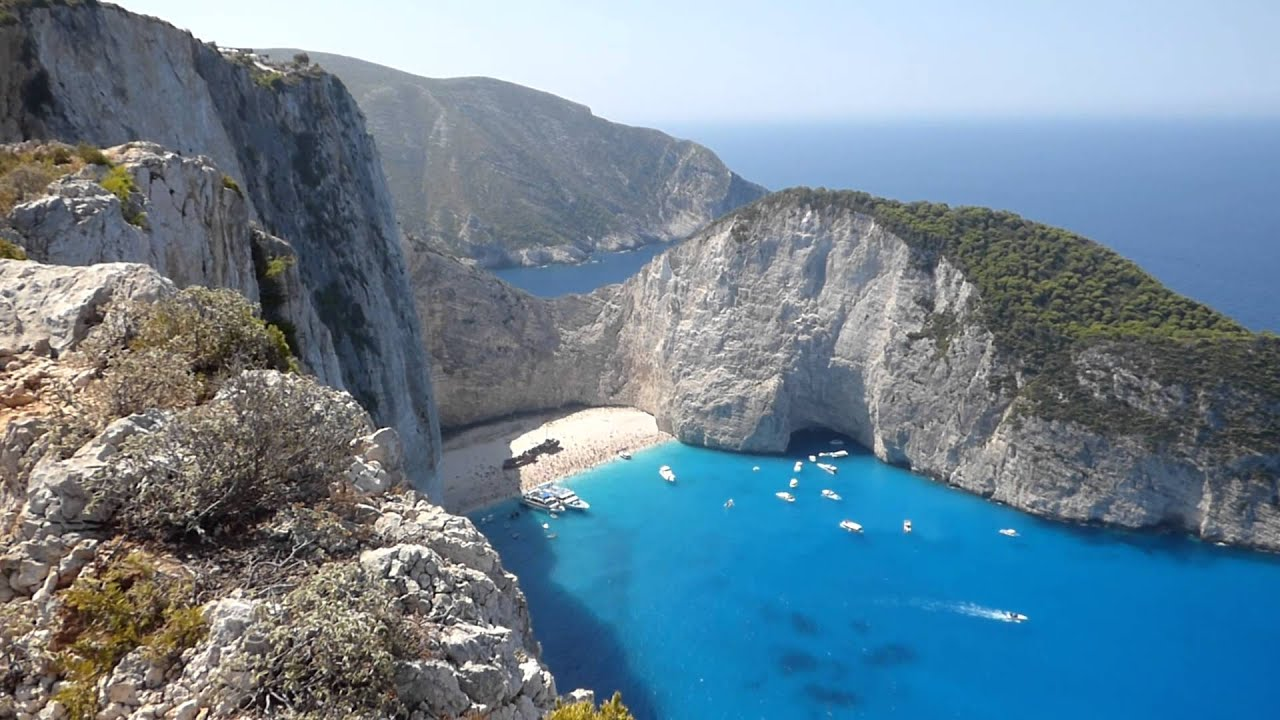 Shipwreck Navagio Beach Zakynthos From Above