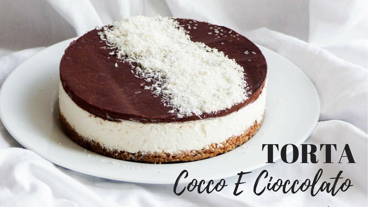 Ben noto TORTA FREDDA AL COCCO E CIOCCOLATO Ricetta senza cottura- RICETTE  YC27