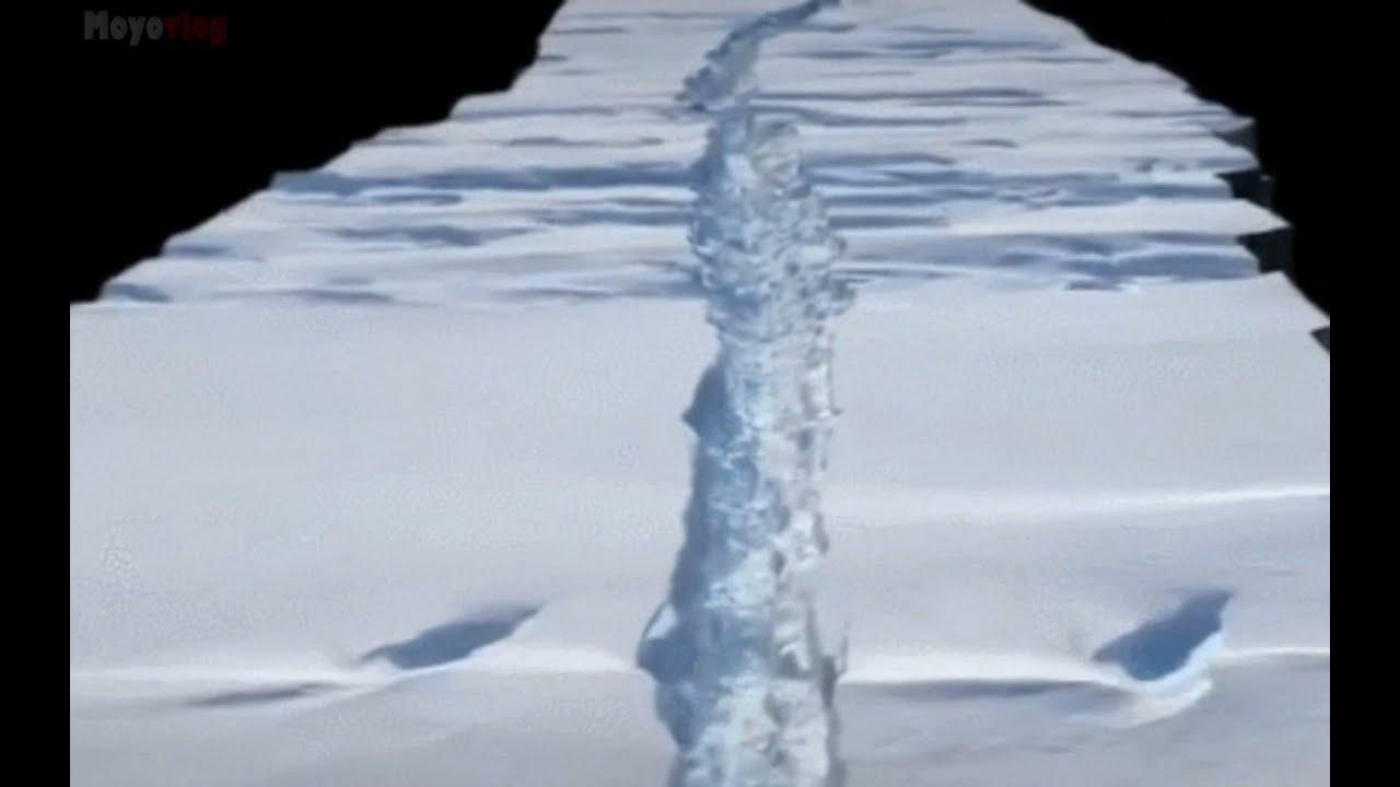 Imágenes dramáticas capturan un rápido deslizamiento del glaciar antártico