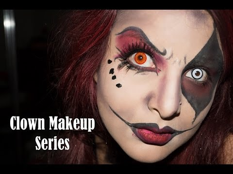 Evil Clown Makeup Tutorial series - YouTube