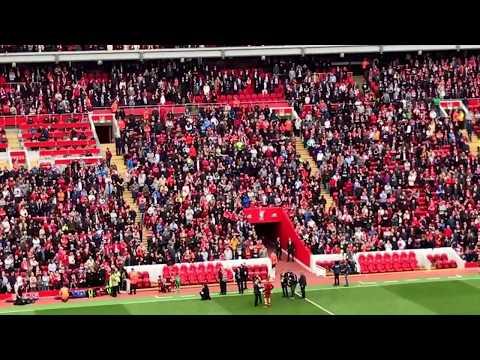 Lucas Leiva speech 10 years Anfield, Liverpool
