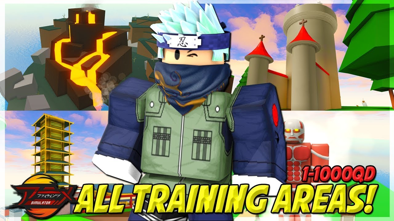New Updated Noob To Pro All Training Areas In Anime Fighting