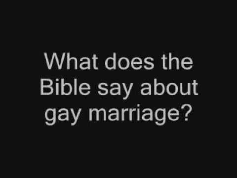 Biblical view homosexual marriage