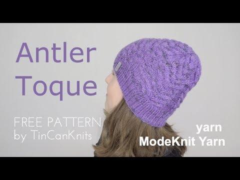 10de9f84497 Antler Hat FREE PATTERN by TinCanKnits