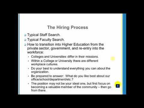 Webcast: Diversity and the Future of the Academic Hiring Process