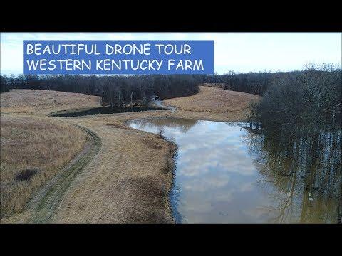 Beautiful Drone Tour of Western Kentucky Farm~Feb 2018