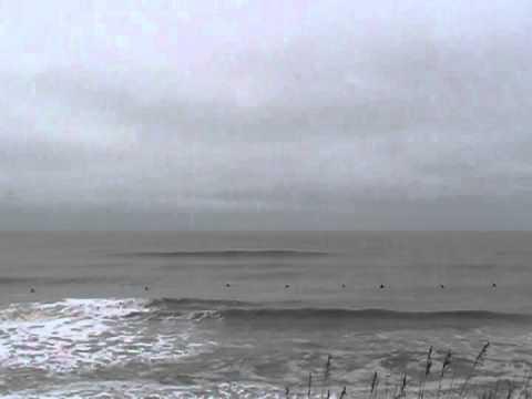 OBX Post Karen Waves and Surfers at Kill Devil Hills