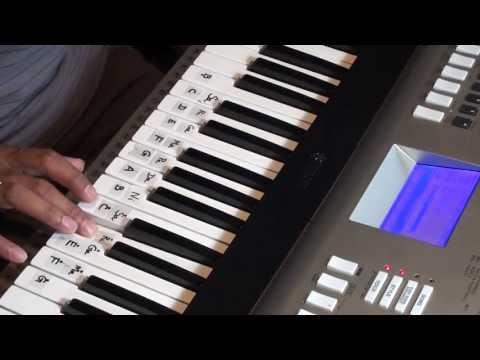 Violin song prelude - Iddrammayilatho how to play on keyboard